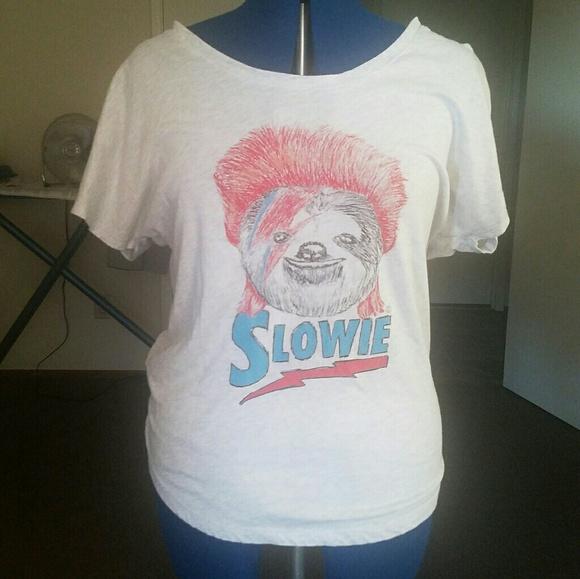 db70c2b23 david bowie Tops   David Slowie Sloth Tee   Poshmark
